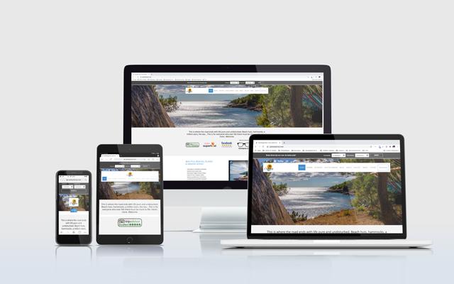 Mockup website CastAway Hvar
