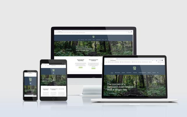 Mockup website Elke Bussels