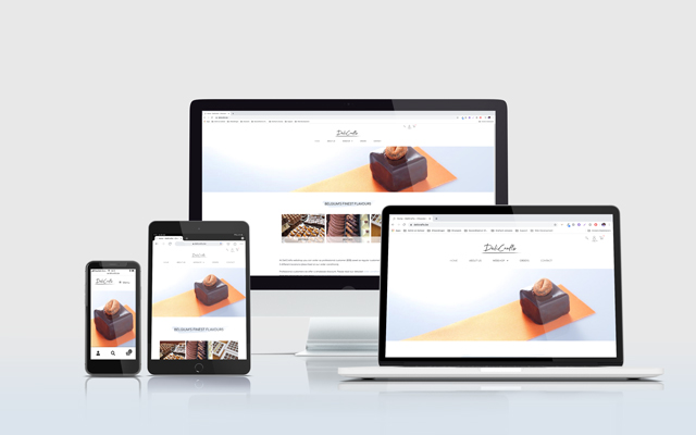 Mockup website Delicrafts