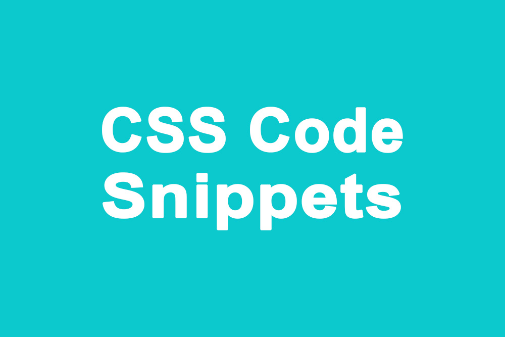 CSS code snippets