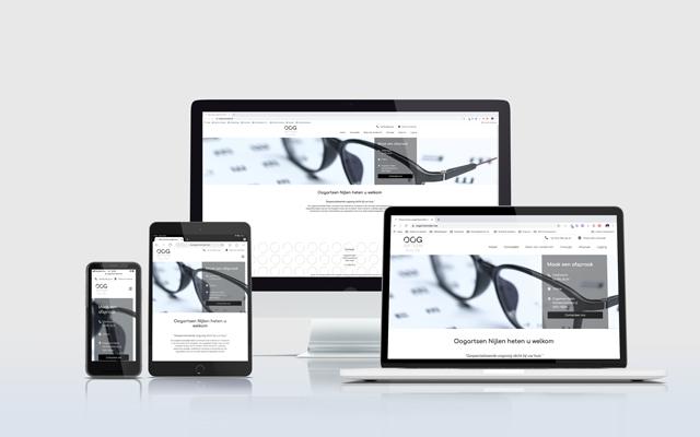 Mockup website oogartsen Nijlen