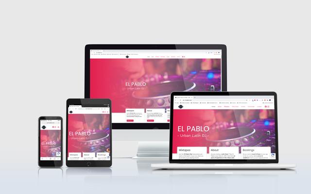 Mockup website DJ El Pablo