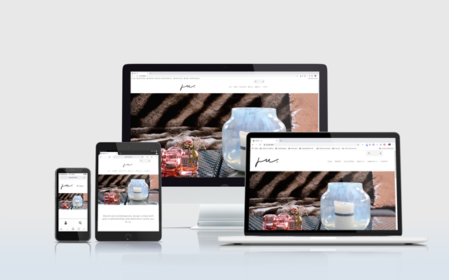 Mockup website Ju