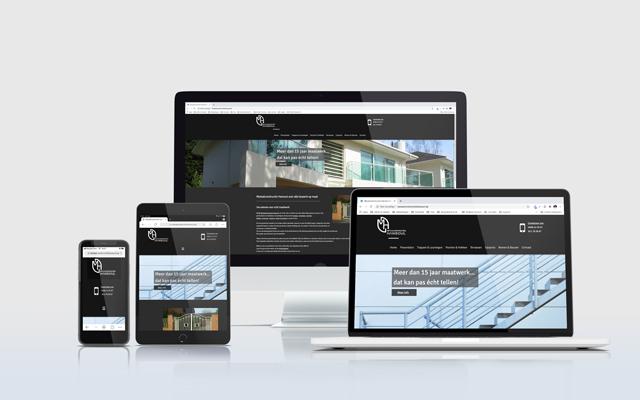 Mockup website metaalconstructies Hansoul
