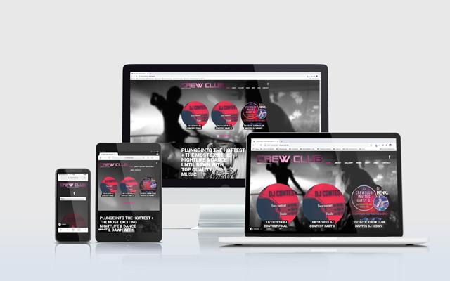 Mockup website Crew Club