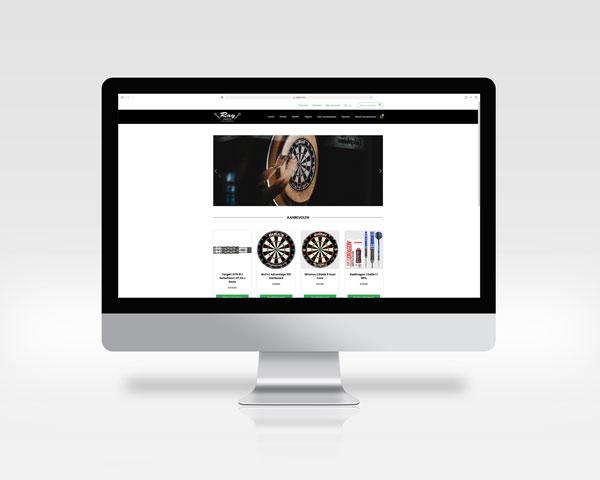Mockup website Ray Darts